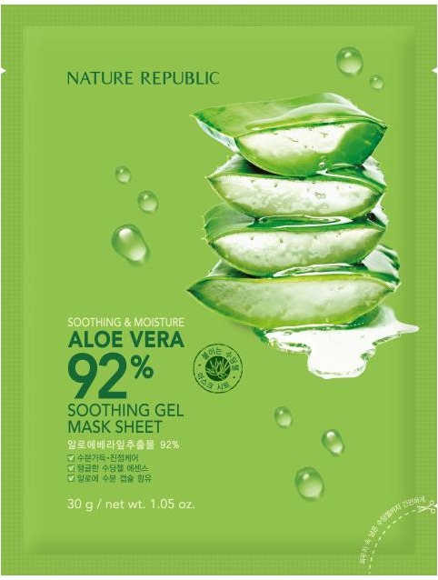 Nature Republic Soothing and Moisture Aloe Vera Soothing Gel Mask Sheet фото