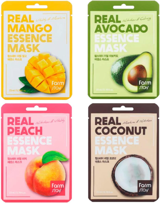 Тканевая маска натуральными экстрактами FARMSTAY  REAL ESSENCE MASK