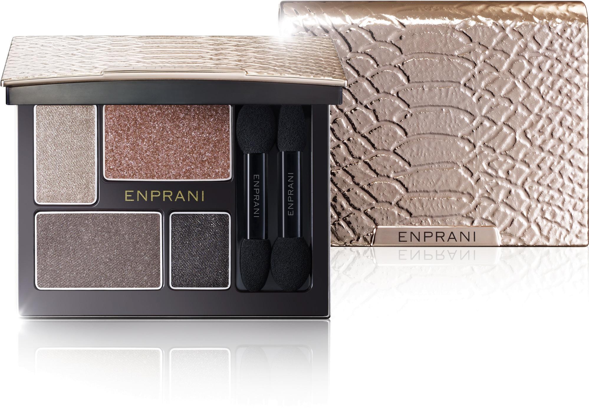 Enprani Delicate Luminous Clutch ShadowНежные оттенки теней для век производства Enprani помогут вам создать по-настоящему чувственный и изумительный макияж. В палетке четыре приятных оттенка, которые пригодятся для любого – вечернего или дневного образа. Цвета можно сочетать и смешивать, но они прекрасно будут смотреться и по отдельности. Замечательная текстура не позволяет им скатываться, осыпаться, поэтому они невероятно стойкие, наносятся невероятно легко. Кроме того, тени увлажняют веки, обеспечивая дополнительный уход за счет жемчуга с побережий Полинезии. Также этот компонент обеспечивает нежнейшее жемчужное сияние, которое выгодно подчеркивает блеск ваших глаз. Стильный футляр придется по вкусу ценительницам модных аксессуаров. Тени снабжены удобным зеркальцем и двумя двусторонними аппликаторами. Будьте красивы и великолепны каждый день, удивляйте и восхищайте окружающих!Объём: 5,5 гСпособ применения:Нанести тени на поверхность века.<br>