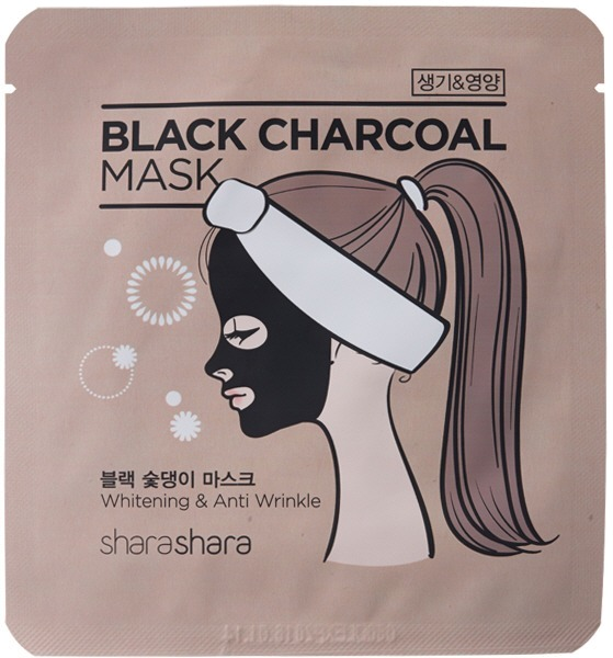 Shara Shara Charcoal Mask Whitening amp Anti Wrinkle.