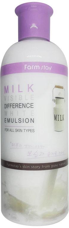 Эмульсия для лица с молочными пептидами FarmStay Visible Difference White Emulsion