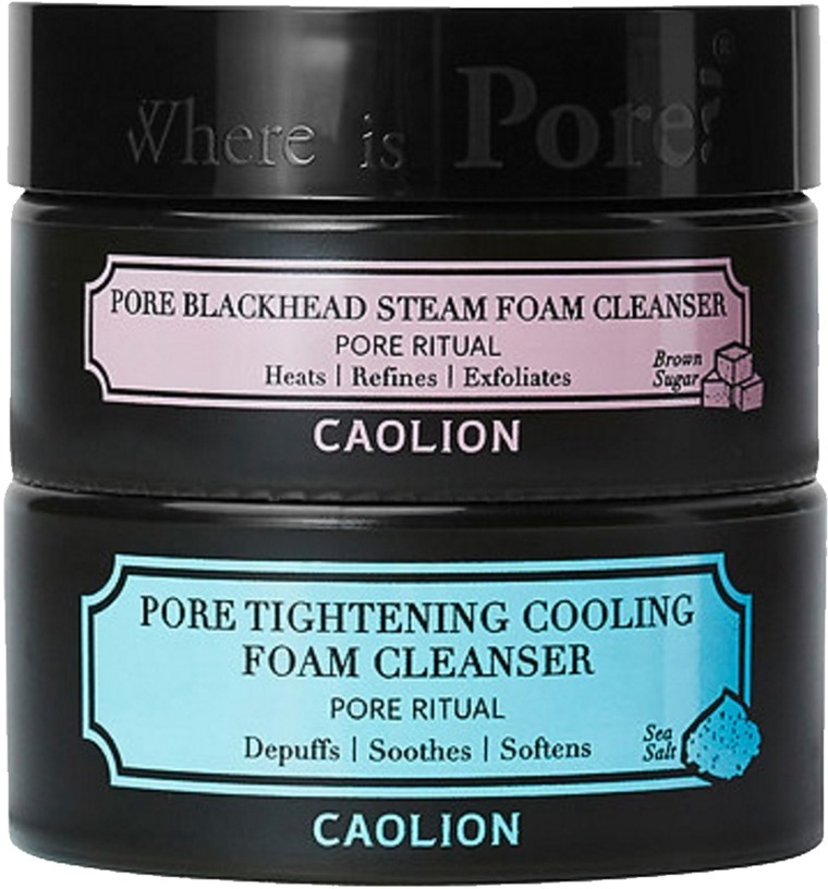 Caolion Hot And Cool Pore Foam Cleanser Duo.