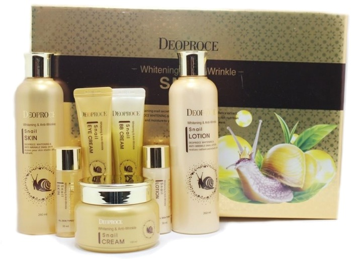 Deoproce Whitening And AntiWrinkle Snail  Set