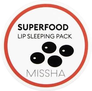 Missha Super Food Black Bean Lip Sleeping Pack  - Купить