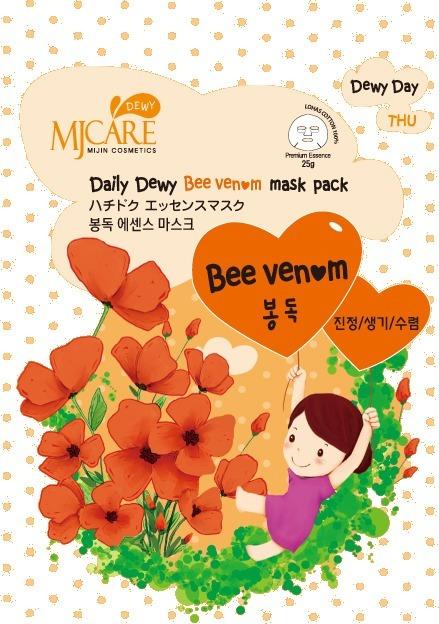 Mijin Cosmetics Mj Care Daily Dewy Bee Venom Mask Pack.