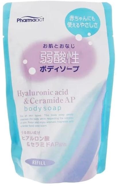 Kumano Cosmetics Pharmaact Hyaluronic Acid And Ceramide AP Body Soap фото