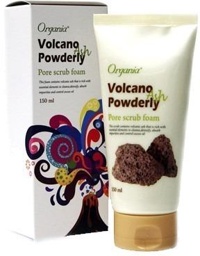 White Cospharm Volcano Powderly Pore Foam Cleansing.