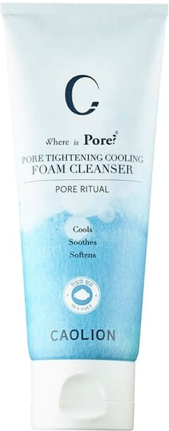 Caolion Pore Tightening Cooling Foam Cleanser.