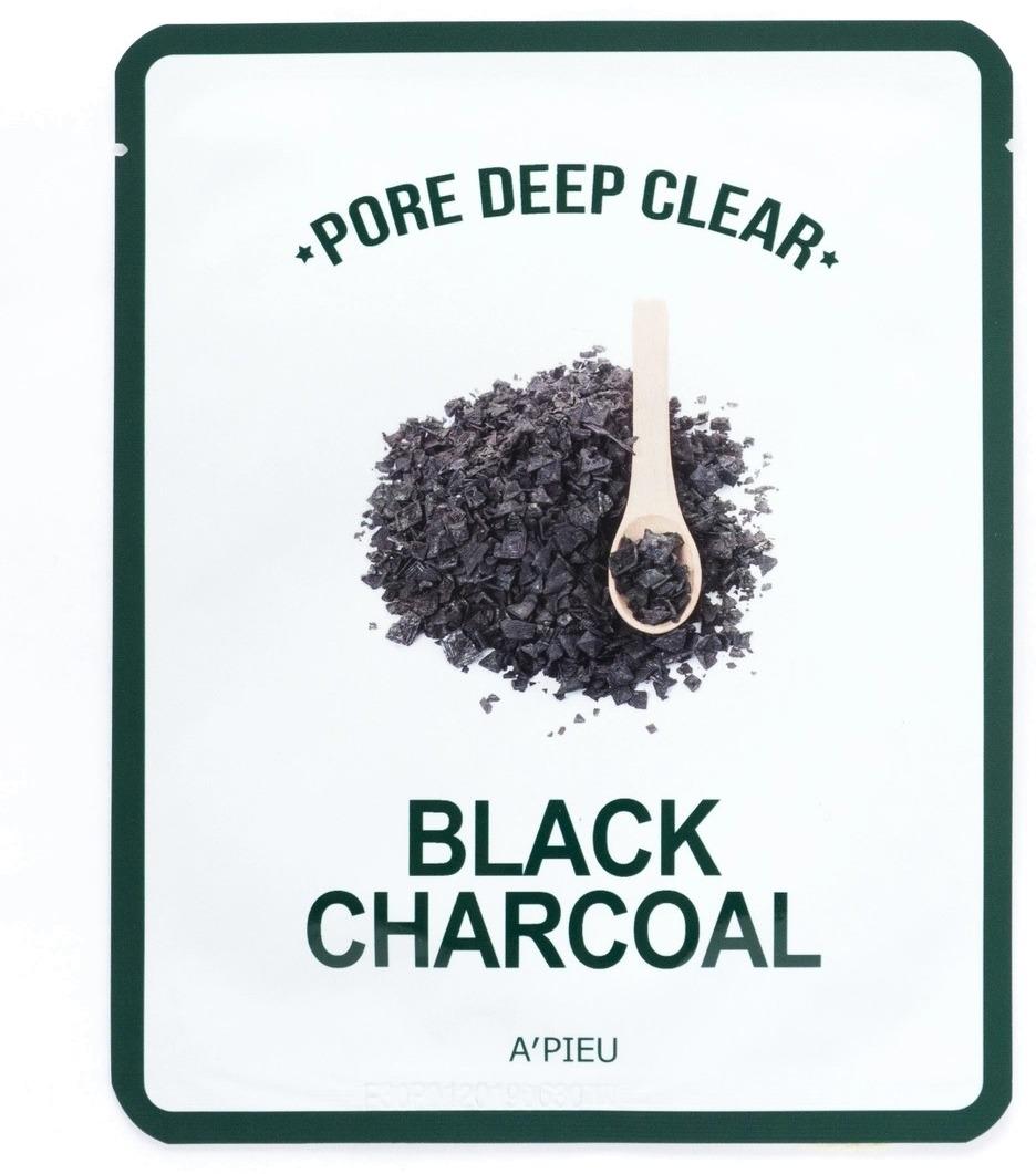 APIEU Pore Deep Clear Black Charcoal Mask фото