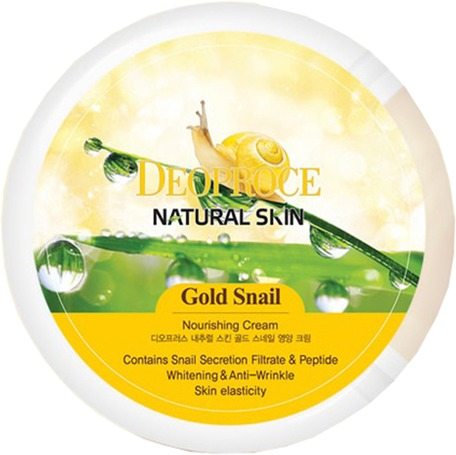 Deoproce Natural Skin Gold Snail Nourishing Cream фото
