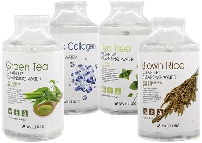 Купить W Clinic Green Tea CleanUp Cleansing Water, 3W Clinic