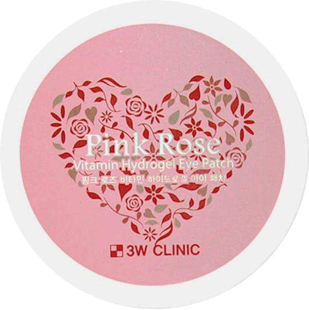 Купить W Clinic Pink Rose Vitamin Hydrogel Eye Patch, 3W Clinic
