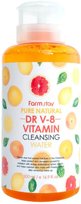 FarmStay Pure Natural DR V Vitamin Cleansing Water фото