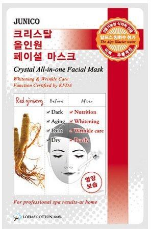 Mijin Cosmetics Junico Crystal Allinone Facial Mask Red Ginseng.