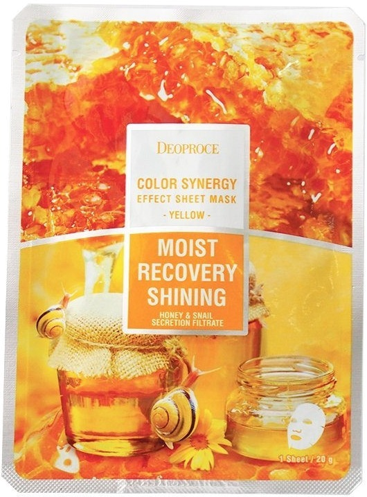Deoproce Color Synergy Effect Sheet Mask Yellow фото