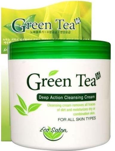 White Cospharm EcoSalon Grean Tea Deep Cleansing Cream.