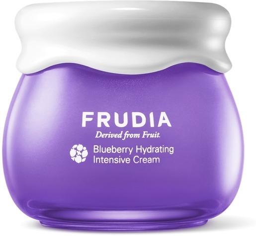Frudia Blueberry Intensive Hydrating CreamСухость и противное чувство стянутости, шелушение на коже и раздражение на всех окружающих &amp;ndash; пожалуй, каждая из нас хоть раз сталкивалась с этими проблемами. В борьбе за здоровое лицо нам помогут учёные из корейского бренда Frudia. Используя специальную технологию R Vita W, они извлекают максимум полезных веществ из фруктов, а потом без потерь переносят их в крем с черникой Blueberry Intensive Hydrating Cream. Средство состоит из экстракта черники на 69%!<br><br>Основное действующее вещество ягоды &amp;ndash; антоциан, который, в том числе, делает её фиолетовой. А ещё он увлажняет кожу и защищает клетки эпидермиса от воздействия свободных радикалов, которые являются одной из причин старения. Эти полезные свойства становятся сильнее благодаря бетадину, который также активно увлажняет и смягчает кожу. Крем Frudia Blueberry Intensive Hydrating Cream может действовать до 72 часов. Средство не вызывает раздражения и подойдет для чувствительной кожи.<br><br>&amp;nbsp;<br><br>Объём: 55 гр.<br><br>&amp;nbsp;<br><br>Способ применения:<br><br>Массирующими движениями нанесите крем на очищенное лицо. Остатки вбейте в кожу лёгкими похлопываниями пальцев. Из-за большого количества фруктовых экстрактов средство может изменить цвет под воздействием солнечных лучей. Свойства продукта при этом не меняются.<br>