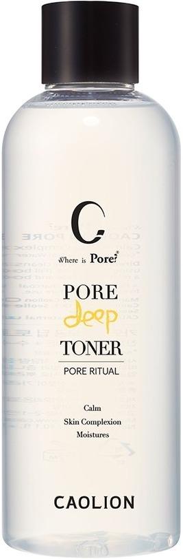 Caolion Pore Deep TonerСредства для очищения пор &amp;ndash; бестселлеры корейской марки Caolion. К ним относится и тоник Pore Deep Toner. Торфяная вода и древесный уголь смывают с поверхности кожи излишки себума, эффективно раскрывают поры и удаляют из них загрязнения. Также в состав средства входит мадекассосид &amp;ndash; особое вещество-молекула, получаемое из центеллы азиатской. Это растение известно восточной медицине с 17 века. Оно обладает уникальными противовоспалительными свойствами, заживляет раны и стимулирует выработку естественного коллагена в эпидермисе. Комплекс из восьми пептидов делает кожу мягкой и гладкой, а экстракт алоэ и комплекс растительных масел успокаивают её.<br><br>Благодаря натуральным компонентам тоник Caolion Pore Deep Toner подходит для всех типов кожи, в том числе для чувствительной. Средство продаётся во флаконах объёмом 60 мл и 300 мл.<br><br>&amp;nbsp;<br><br>Объём: 60 мл./300 мл.<br><br>&amp;nbsp;<br><br>Способ применения:<br><br>Нанесите необходимое количество тоника на ватный диск и лёгкими движениями протрите лицо и шею.<br>